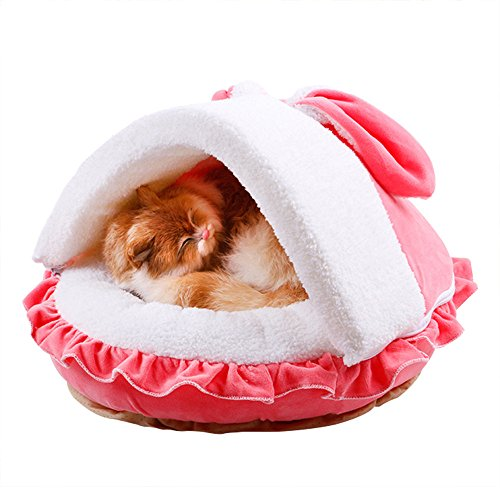 Becoler Winter Warm Summer Cool All Removable and Washable,Dog Bed Cat Bed Pet Nest,Teddy Bibi Dog House,Black Friday (Big, Pink) (Pampered Pets 2 Ds compare prices)