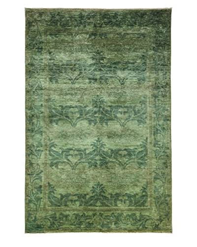 Darya Rugs Transitional Oriental Rug, Lime, 9' 1 x 6'
