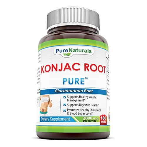Pure Naturals Konjac Root, 2000 mg, 180 Veg Capsules (Konjac Root Extract compare prices)