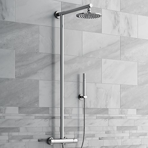 Premium Exposed Thermostatic Chrome Bar Mixer Shower with Handheld Shower Set SS6800