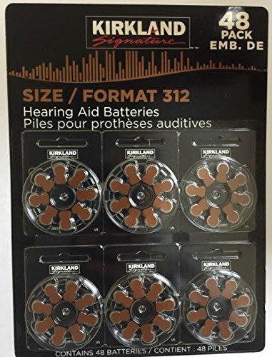 Kirkland Signature 1.45 Volt Mercury Free Premium Quality Hearing Aid Batteries, 312...