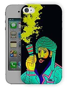 "Humor Gang Smoke Chillum Neon Art TrippyPrinted Designer Mobile Back Cover For ""Apple Iphone 4-4S"" (3D, Matte, Premium Quality Snap On Case)..."