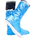 UUstar® Cute Beautifull Fashion Waterproof Foldable Rain Boots Shoes Boots Covers Protector for Children Women Girls Boys Men