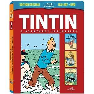 Tintin - 3 aventures - Vol. 3 : Le Secret de la Licorne + Le Trésor de Rackham le Ro