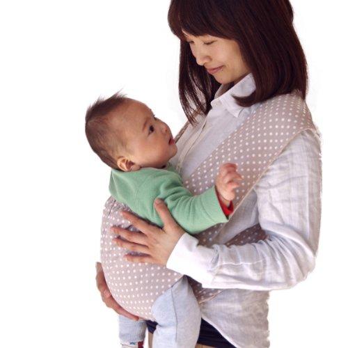 キウミベビー【日本正規品保証付】 キウミの抱っこひも ドット・アプリコット (M)