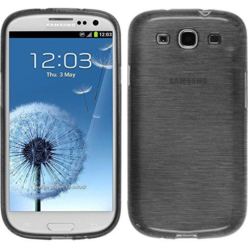 PhoneNatic Custodia Samsung Galaxy S3 Neo brushed argento Cover Galaxy S3 Neo in silicone + pellicola