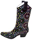 Corkys Rain Boots in Brown & Pink Floral Design Size 7 for Women
