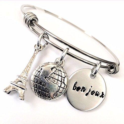 bonjour-world-traveler-inspired-hand-stamped-bangle-bracelet