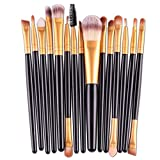 AOOK 15 Pieces Animal Makeup Brush Set Professional Face Eye Shadow Eyeliner Foundation Blush Lip Makeup Brushes Powder Liquid Cream Cosmetics Blendin