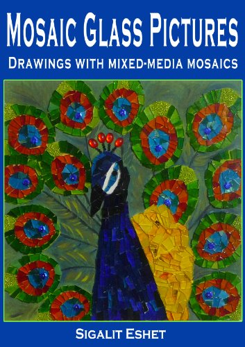 Mosaic Glass Pictures Drawings with mixed-media mosaics