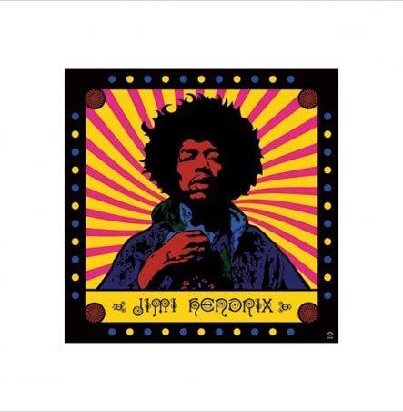 Psychedelic Jimi Hendrix Print 40X40Cm