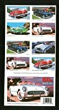 50s Sporty Cars Collectible Stamp Sheet