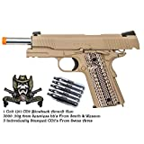 Colt 1911 CO2 Blowback Airsoft Gun Pistol with 5000 S&W .20g 6mm bb's and 5 CO2's
