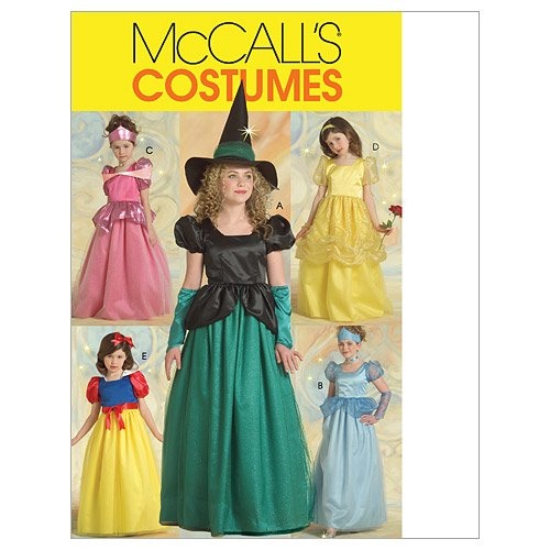 McCall's Patterns M5494 Children's/Girls' Princess and Witch Costumes,