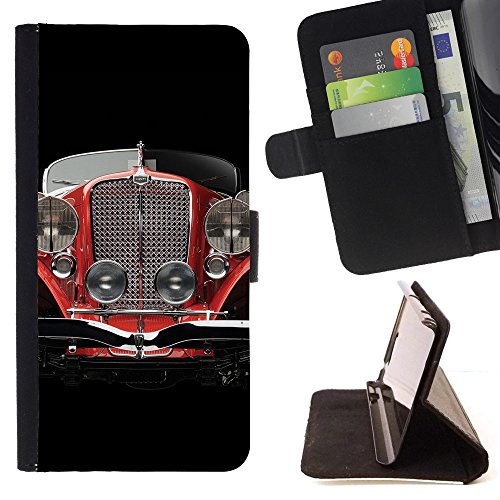 Eason Shop / Flip PU Leather Case Cover - Oldschool Classic Car - Samsung Galaxy S5 Mini, SM-G800 (Galaxy S5 Old School Cars Case compare prices)