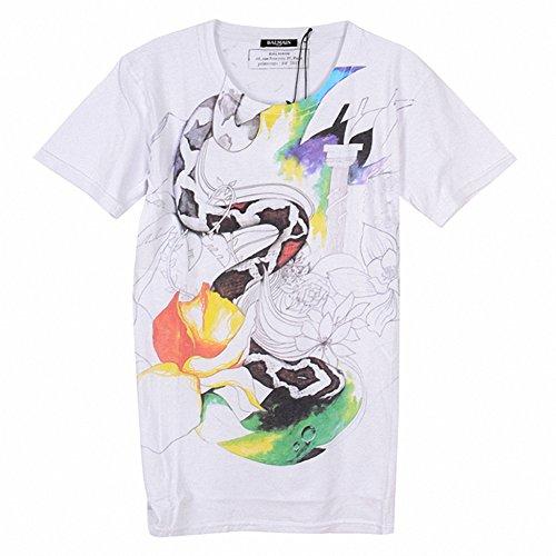 (バルマン) BALMAIN S3HJ601I114 100 半袖 Tシャツ ホワイト (並行輸入品) RICHJUNE