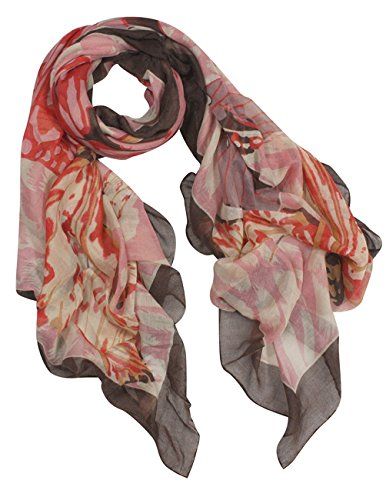 Vibrant-Butterflies-Leopard-Print-Square-Scarf-Shawl-Pink
