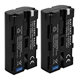 D&F NP-F550 NP-F570 Li-ion Replacement Battery (2 Pack) for SONY NEEWER VILTROX YONGNUO Video Cacorder and LED Light Panel