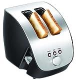 Design Edelstahl Toaster 2 Scheiben 45mm Krümelfach
