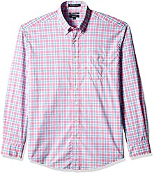 Gant Men's Casual Shirt (8907036809329_GMSFF0072_XX-Large_Pink and Blue)