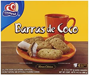 Amazon.com: Gamesa Barras de Coco Cookies, 14.3 Ounce
