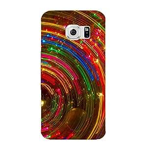 Clapcart Design Printed Mobile Back Cover Case For Samsung Galaxy S6 Edge -Multicolor