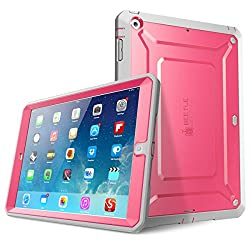iPad Air Case, SUPCASE Heavy Duty Beetle Defense Series Full-body Rugged Hybrid Protective Case Cover with Built-in Screen Protector for Apple iPad Air (Pink/Gray, not fit iPad Air 2)