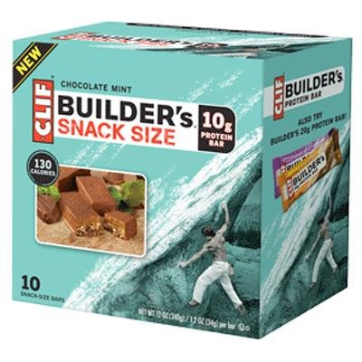 Clif Bar Builder's Snack Size 10g Protein Bar - Box of 10