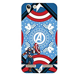 Hamee Marvel Lenovo A6000 Case Cover Captain America Blue