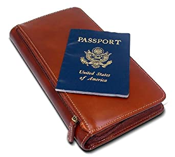 DataSafe RFID Shielding Security Wallet, Passport & Travel Wallet (Brown)