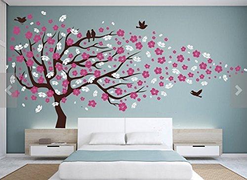 Vinyl Wall Decal Cherry Blossom Flower Tree Wall Decal Decals Child Wall Sticker Stickers Flowers Baby Girl Room Decor Children Kids Dk20
