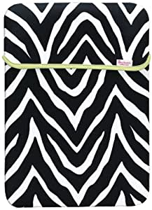 Merkury Innovations 15.6-Inch Reversible Notebook Case, Paradise Orchid/Black Zebra (MB-XL1BZ)