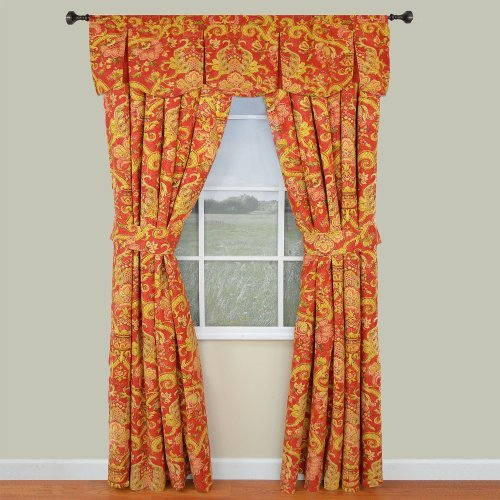 Waverly Archival Urn Lined Window Valance Color: Rosso Toy, Kids, Play, Children front-766615