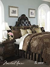 Michael Amini 13 Piece Higate Manor Comforter Set King BrownBeigeGold