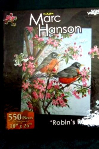 Robin's Retreat The Art of Marc Hanson 550 pc Puzzle