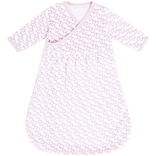 JoJo Maman Bebe Newborn Sleeping Bag, Pink Elephant