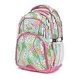 High Sierra Swerve Backpack, Pineapple Party/Pink Lemonade/White