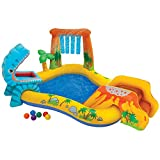 Intex Dinosaur Inflatable Play Center, 98″ X 75″ X 43″, for Ages 2+
