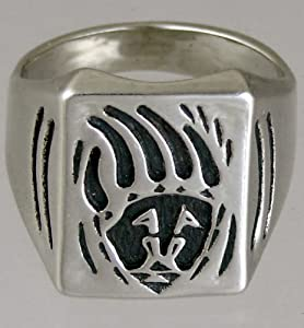 A Spectacular Sterling Silver Bear Claw Ring...Made in America