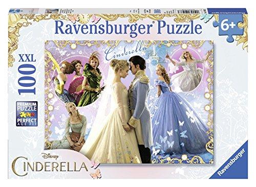 Ravensburger 10566 3 - Disney Cinderella Movie Puzzle Super, 100 Pezzi, Cartone