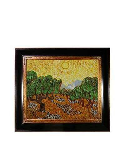 Vincent Van Gogh Olive Trees With Yellow Sun And Sky Framed Hand-Painted Reproduction