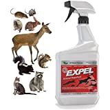 Expel® Natural Animal Repellent & Mice Repellent - Ready to Use, Weatherproof - 32oz Easy Spray Bottle - Money-Back Guarantee