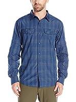 Columbia Camisa Hombre Silver Ridge (Azul Medio)