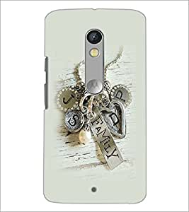 PrintDhaba Metal Design D-2265 Back Case Cover for MOTOROLA MOTO X PLAY (Multi-Coloured)