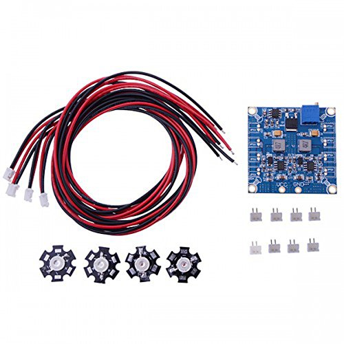 Elecs Rc Led Flashing Light/Night Light W/Led Board And Led Extension Wire For Quadcopter (4 Pcs)