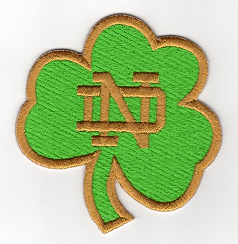 Notre Dame Fighting Irish NCAA Clover Iron On Embroidered Patch (Notre Dame Iron On Patch compare prices)