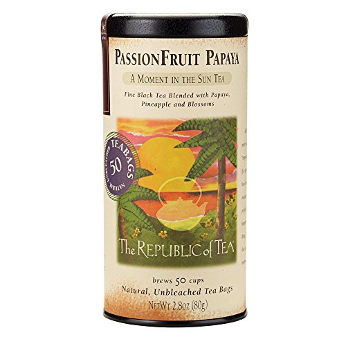 The Republic Of Tea Passionfruit Papaya Black Tea, 50 Tea Bags