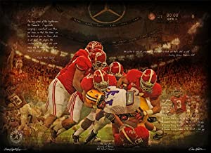 Alabama Crimson Tide & Nick Saban The Shutout 30x40 Gallery Wrapped Canvas by ActionSportsArt