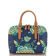 Vivian Dome Satchel<br>Navy Belize