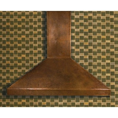 Hand Hammered Copper Range Hood Finish / Size: Antique / 48
